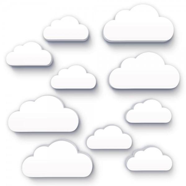 Wolken Weiss 10x (W154)