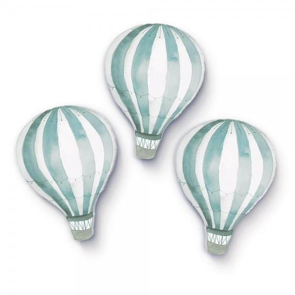 Heißluftballons Mintgrün 3er-Set