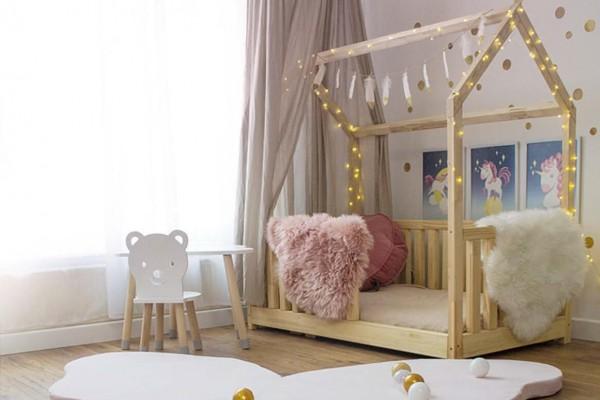 Bett Haus 160x80cm mit Gitter (Y036)