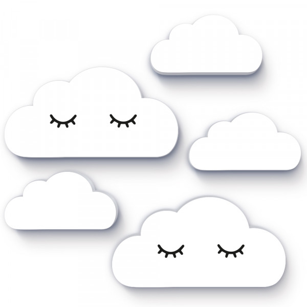 Wolken Sleepy Eyes 5er-Set