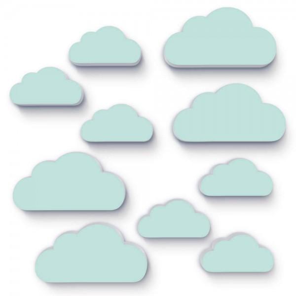 Wolken Mintgrün 10x (W151)