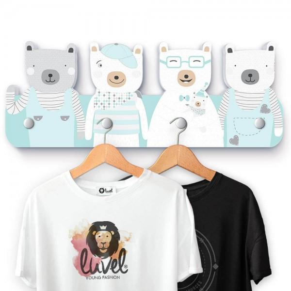 Bärenfamilie Garderobe - G006 B-Ware