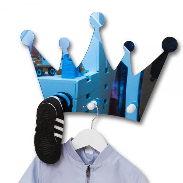 Spiegel-Garderobe Krone Blau (S201)
