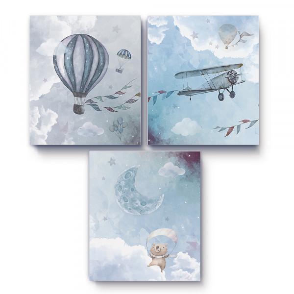 3D-Effekt Poster Blue Sky