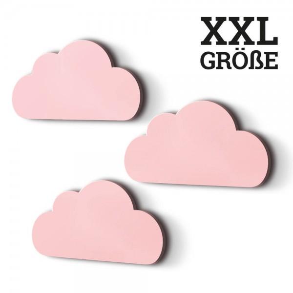 3er-Set XXL-Wolken Rosa (W005)