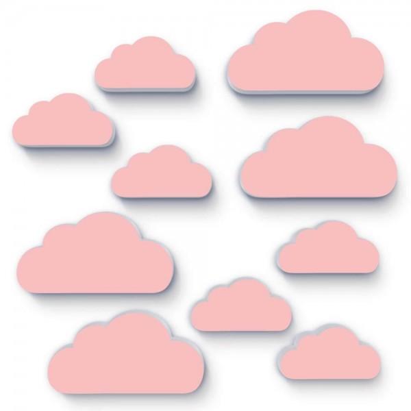 Wolken Rosa 10x (W153)
