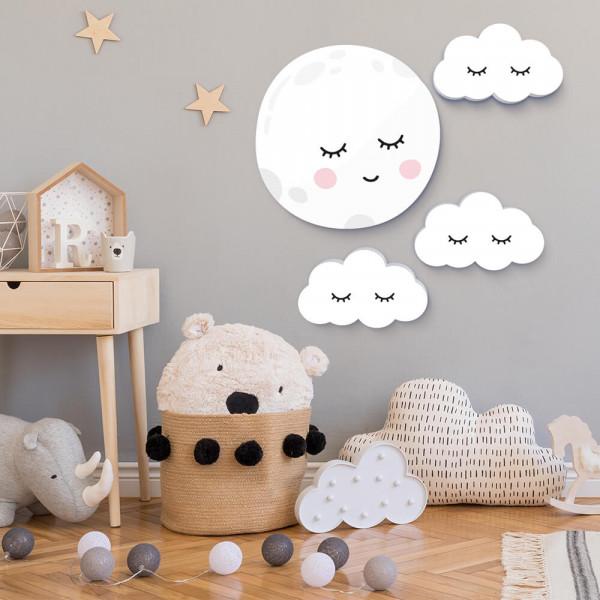 Mond & Wolken Sleepy eyes 4er-Set