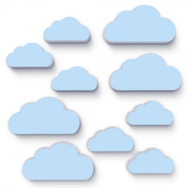 Wolken Hellblau 10x (W152)