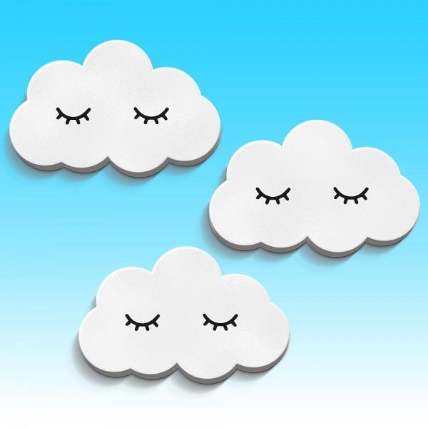Sleepy Clouds Weiß Sleep Eye 3er-Set (W552)