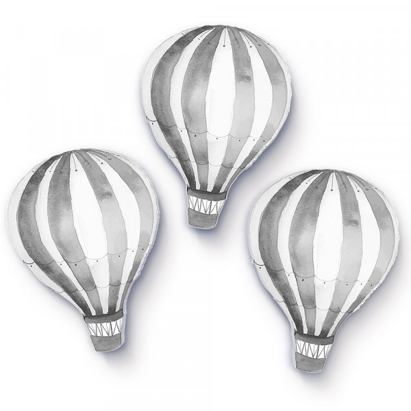 Heißluftballons hellgrau klein