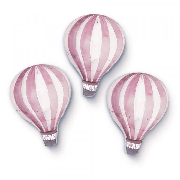 3D Heißluftballons rosa