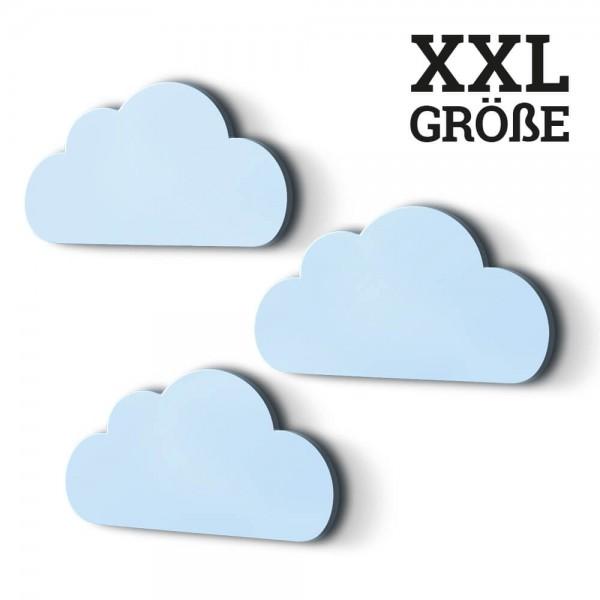 3er-Set XXL-Wolken Hellblau (W002)
