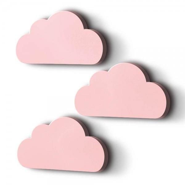 3D Wanddeko Wolken Rosa XXL 3er-Set (M6) B-Ware