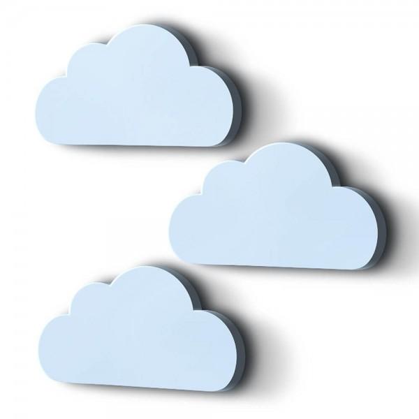 3D Wanddeko Wolken Blau XXL 3er-Set (M6) B-Ware