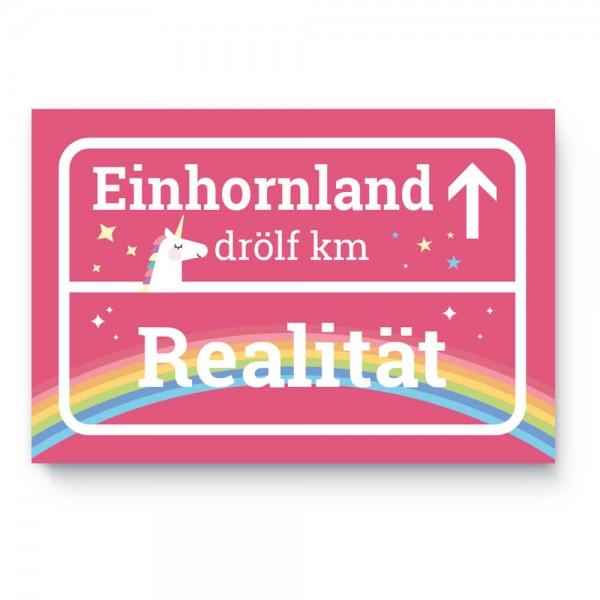 Einhorn Türschild / Ortsschild / Ortstafel