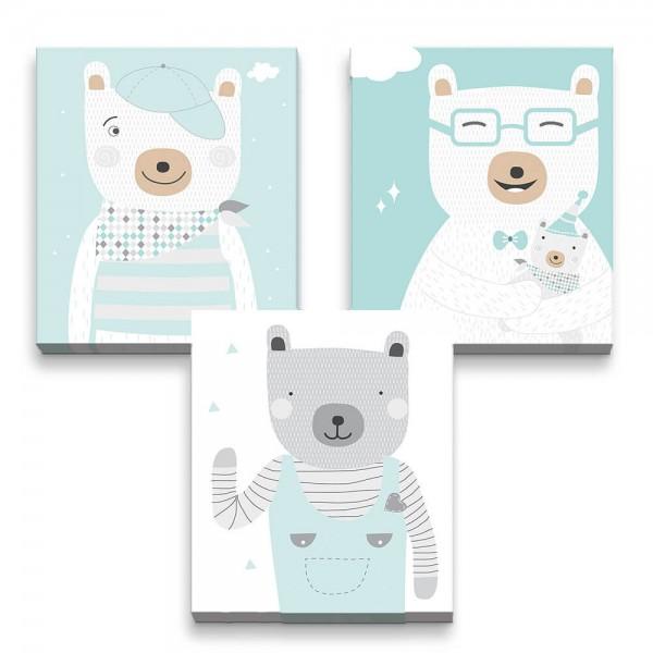 3D Effekt Poster Coole Bären