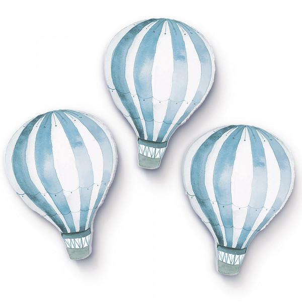 Heißluftballons hellblau klein