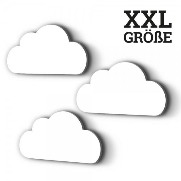 3er-Set XXL-Wolken Weiß (W004)