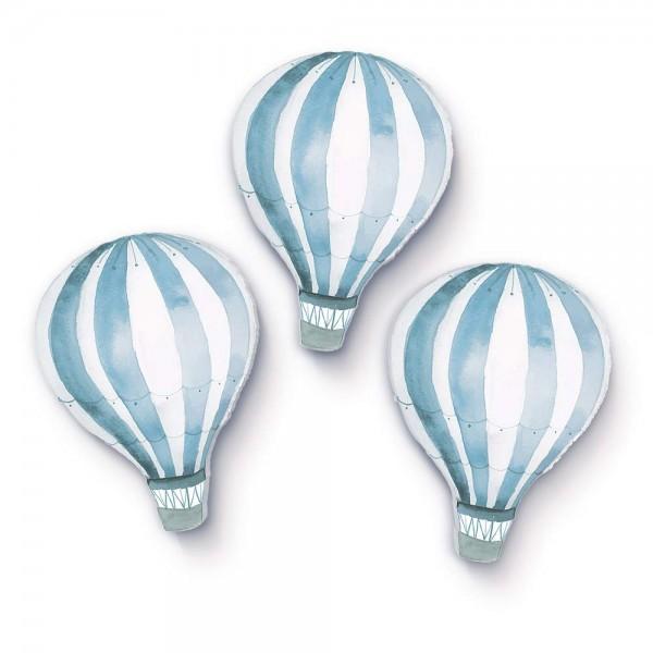 Heißluftballons hellblau 3er-Set (W201)